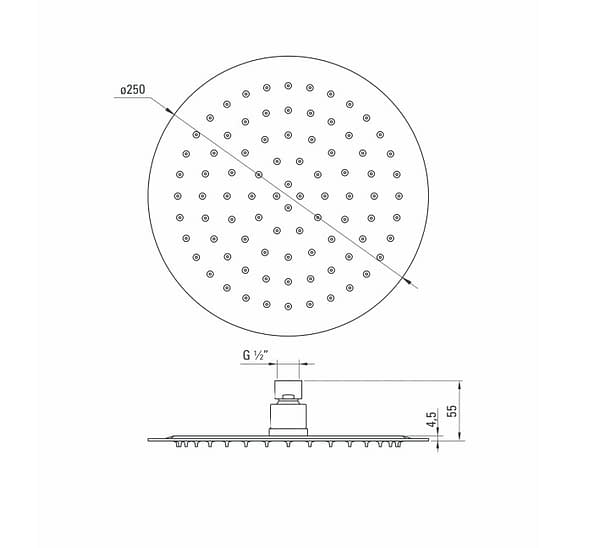 NAC 600K Dušas galva Floks specifikācija