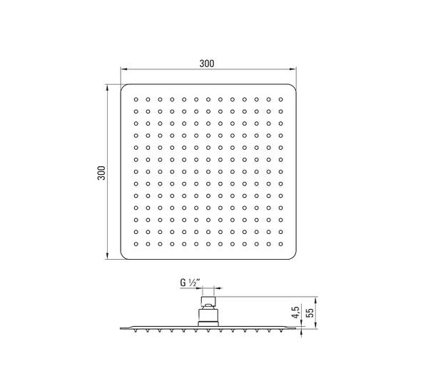 NAC 005K dušas galva Floks specifikācija
