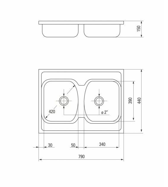 ZMU 3200 Izlietne Techno specifikācija